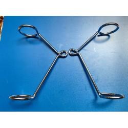 montesa cota 348 adaptable a todas las de horquilla de 35 milimetros pareja de soportes de faro
