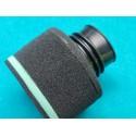 filtro de aire con goma de 60 milimetros para acoplar carburador dell`orto amal o mikuni en moto clasica de enduro y cross
