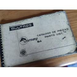 bultaco pursang MK4 libro de despiece original en español e ingles