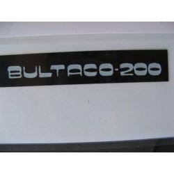 """bultaco 200 adhesivo """"bultaco 200"""" del manillar"""